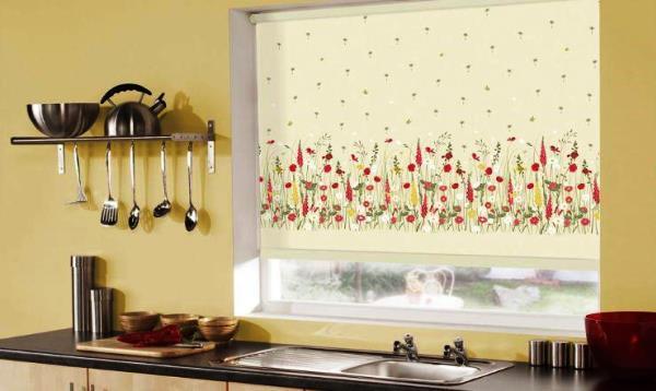 рулонные шторы для кухни фото-новинки 2017 фото