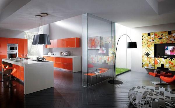 дизайн кухни студии в квартире фото