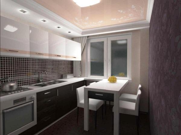 идеи для маленькой кухни 4.5 квадратов дизайн фото хрущевка фото 5