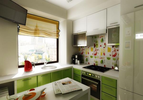 идеи для маленькой кухни 4.5 квадратов дизайн фото хрущевка фото