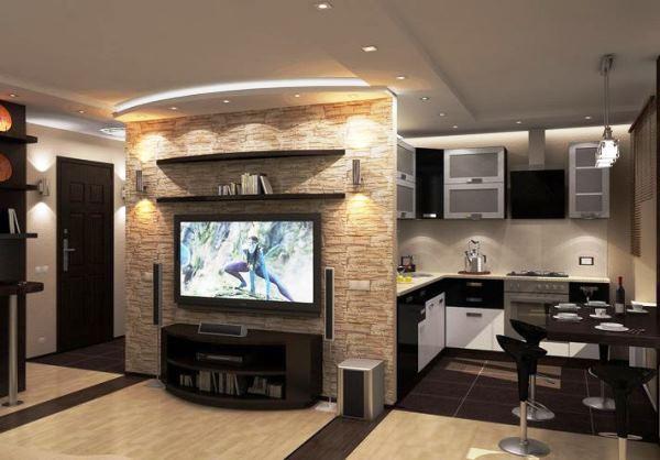 кухня студия дизайн фото в хрущевке