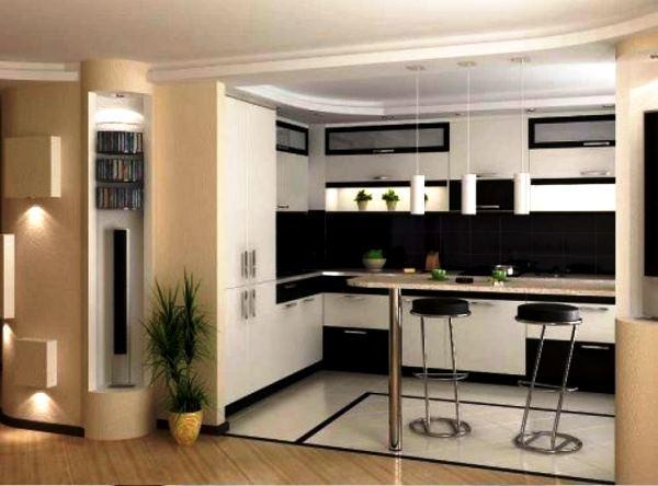 кухня студия с барной стойкой дизайн фото в хрущевке