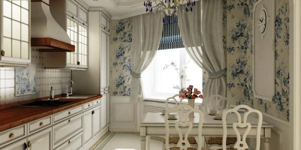 шторы на кухню в стиле прованс фото 2