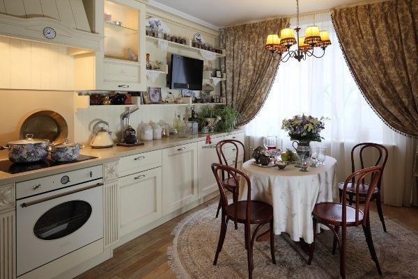шторы на кухню в стиле прованс фото 3