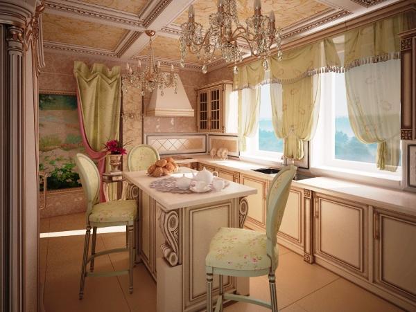 шторы на кухню в стиле прованс фото 4