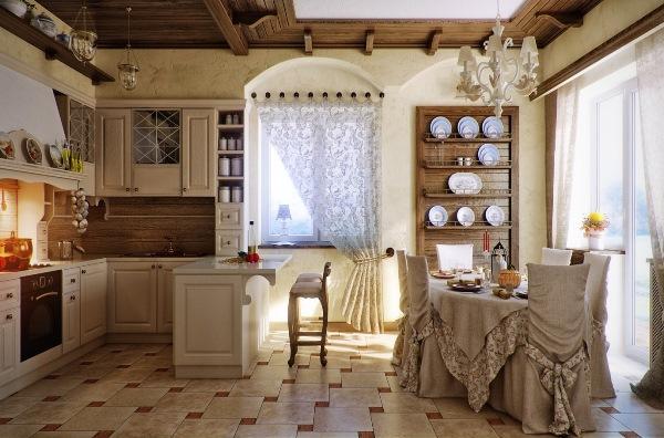шторы на кухню в стиле прованс фото 8