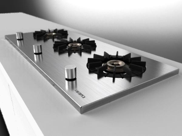 варочная панель газовая 3-х конфорочная встраиваемая 45 см фото 3