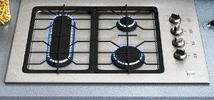 варочная панель газовая 3 х конфорочная встраиваемая 45 см