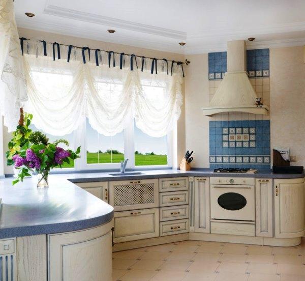занавески на кухню в стиле прованс фото