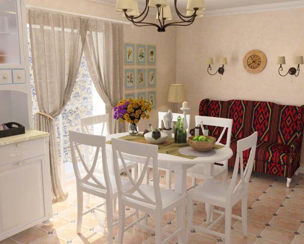 занавески в стиле прованс для кухни фото