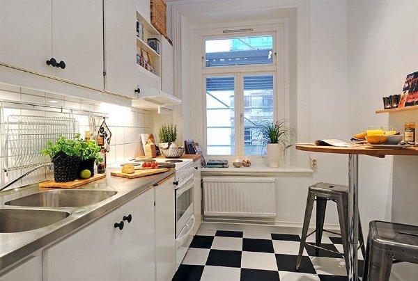 дизайн кухни в малогабаритных квартирах фото 3