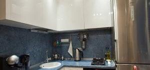 дизайн кухни 6 кв.м фото в хрущевке с холодильником