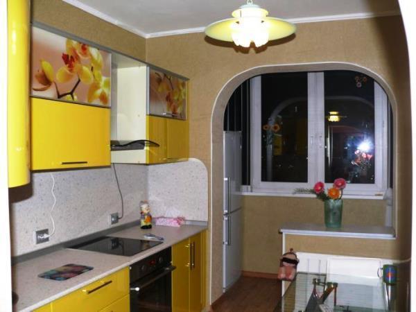 Дизайн кухни фото 9 кв метров фото с балконом