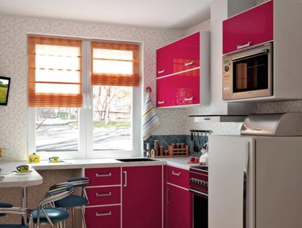 Дизайн кухни фото 9 кв метров фото в панельном доме с окном