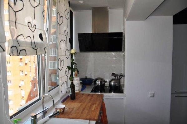 Дизайн кухни фото 9 кв метров фото в современном стиле с балконом