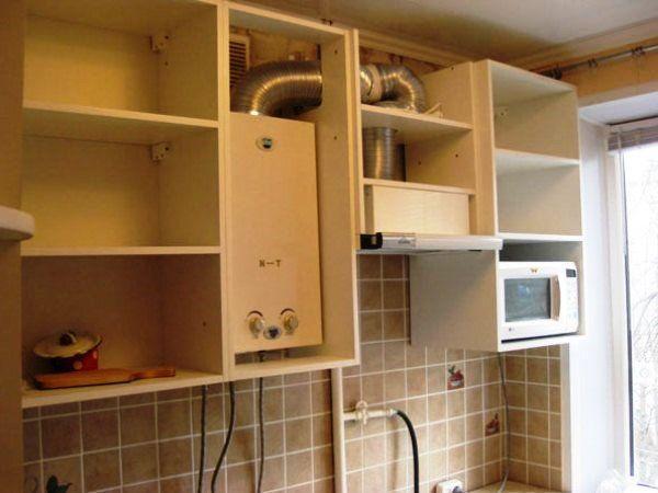 Ремонт кухни с колонкой в хрущевке фото