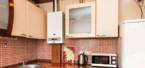 дизайн кухни в хрущевке с холодильником и газовой колонкой фото