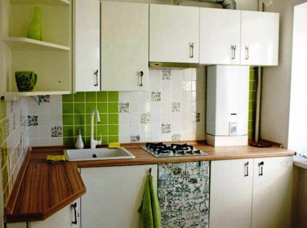 Дизайн кухни с колонкой в хрущевке фото