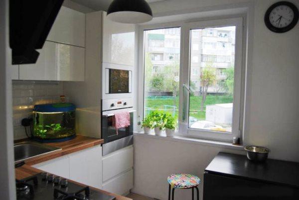 Кухня в хрущевке 6 кв м фото