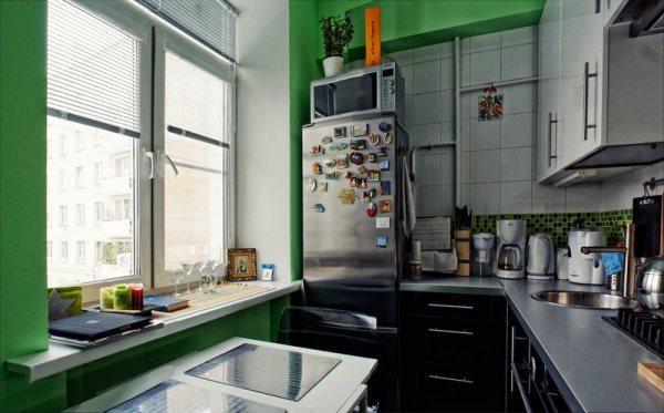Кухонный гарнитур для маленькой кухни 6 кв м: фото в хрущевке