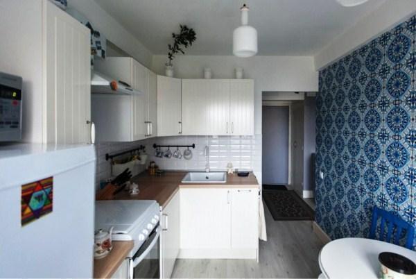 Обои для маленькой кухни в хрущевке фото