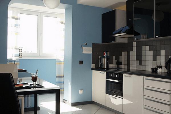 дизайн кухни 10 кв м с балконом фото