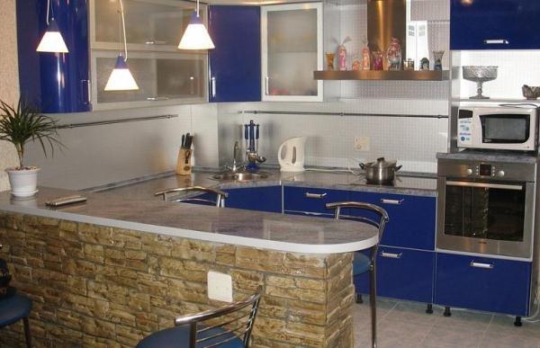 Дизайн кухни 12 кв. м фото с барной стойкой