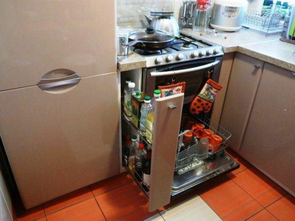 Дизайн кухни хрущевки 5 метров с холодильником фото