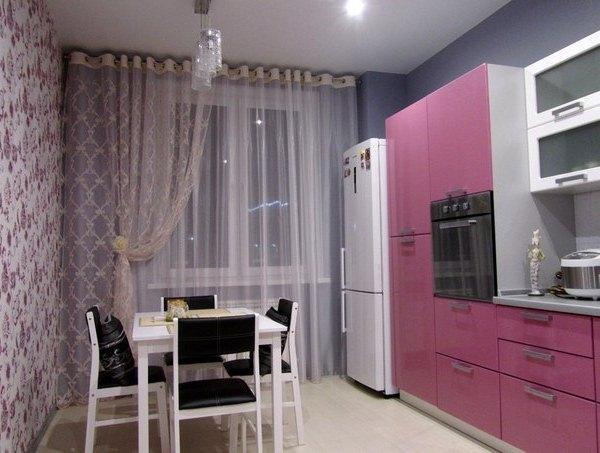 Дизайн квадратной кухни 10 кв м фото