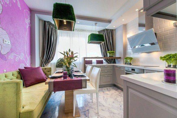 Дизайн угловой кухни 12 кв. м фото