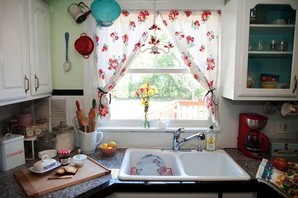 Короткие шторы для кухни фото дизайн 2019 года новинки