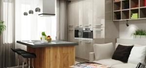 красивые интерьеры квартир фото кухни совмещенной с гостиной