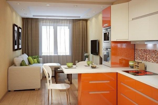 красивые интерьеры квартир фото кухни совмещенной с гостиной фото 10