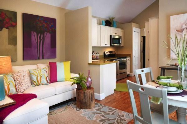 красивые интерьеры квартир фото кухни совмещенной с гостиной фото 11