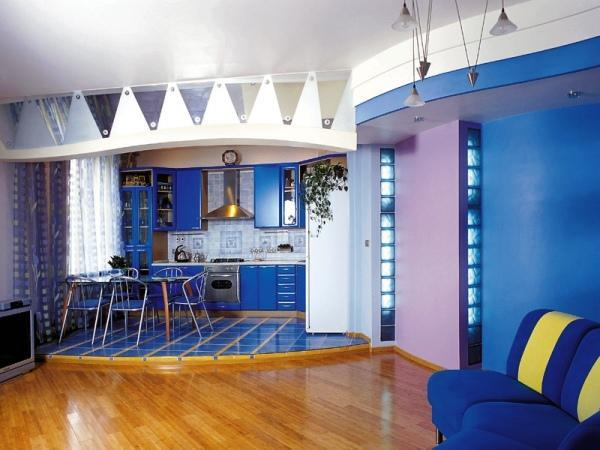 красивые интерьеры квартир фото кухни совмещенной с гостиной фото 2