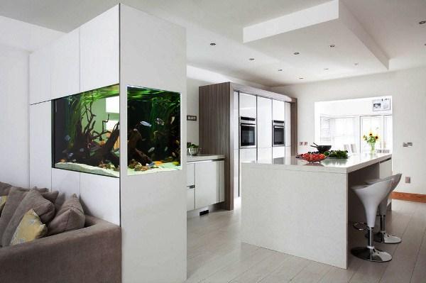 красивые интерьеры квартир фото кухни совмещенной с гостиной фото 4