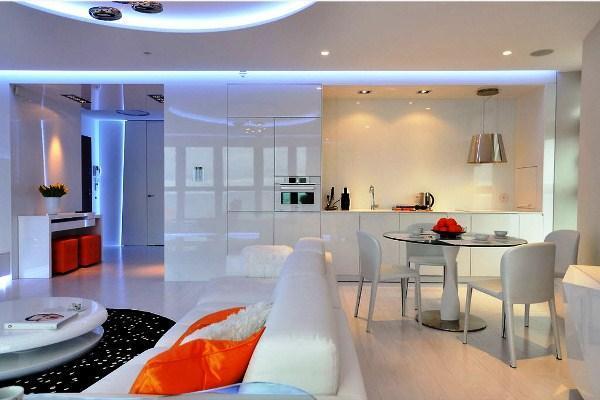 красивые интерьеры квартир фото кухни совмещенной с гостиной фото 5