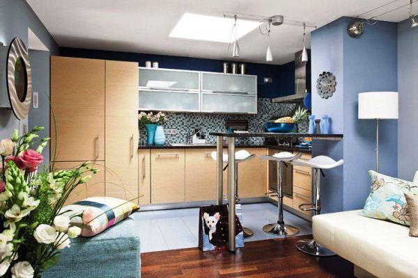 красивые интерьеры квартир фото кухни совмещенной с гостиной фото 7