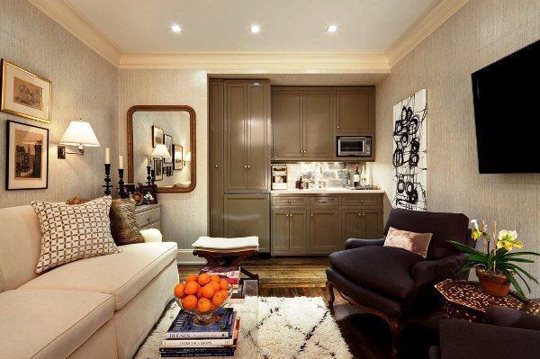 красивые интерьеры квартир фото кухни совмещенной с гостиной фото 9