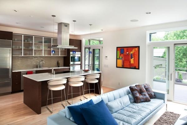 красивый интерьер кухни гостиной фото 4