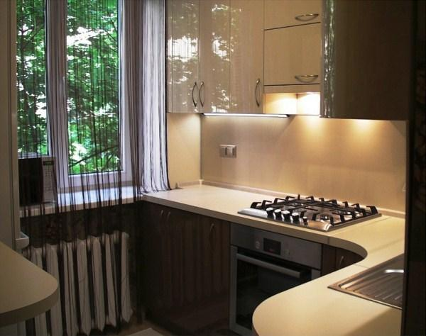 кухня 5. 5 кв. м дизайн фото 3