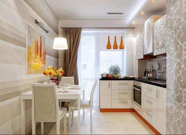 кухня дизайн интерьер фото 12 кв метров с балконом