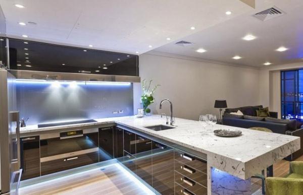 Кухня гостиная 12 кв. м дизайн фото