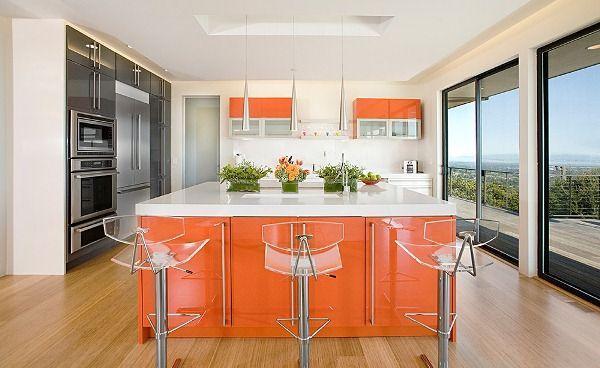кухня студия с барной стойкой дизайн фото 10
