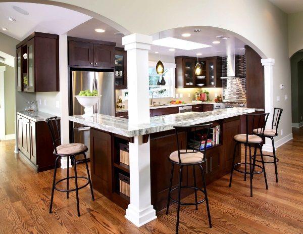 кухня студия с барной стойкой дизайн фото 12
