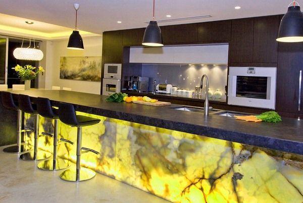 кухня студия с барной стойкой дизайн фото 14