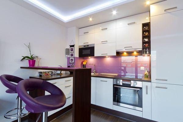кухня студия с барной стойкой дизайн фото 3
