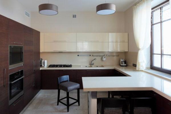 кухня студия с барной стойкой дизайн фото 5