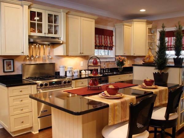кухня студия с барной стойкой дизайн фото 7