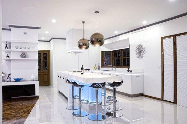 кухня студия с барной стойкой дизайн фото 9